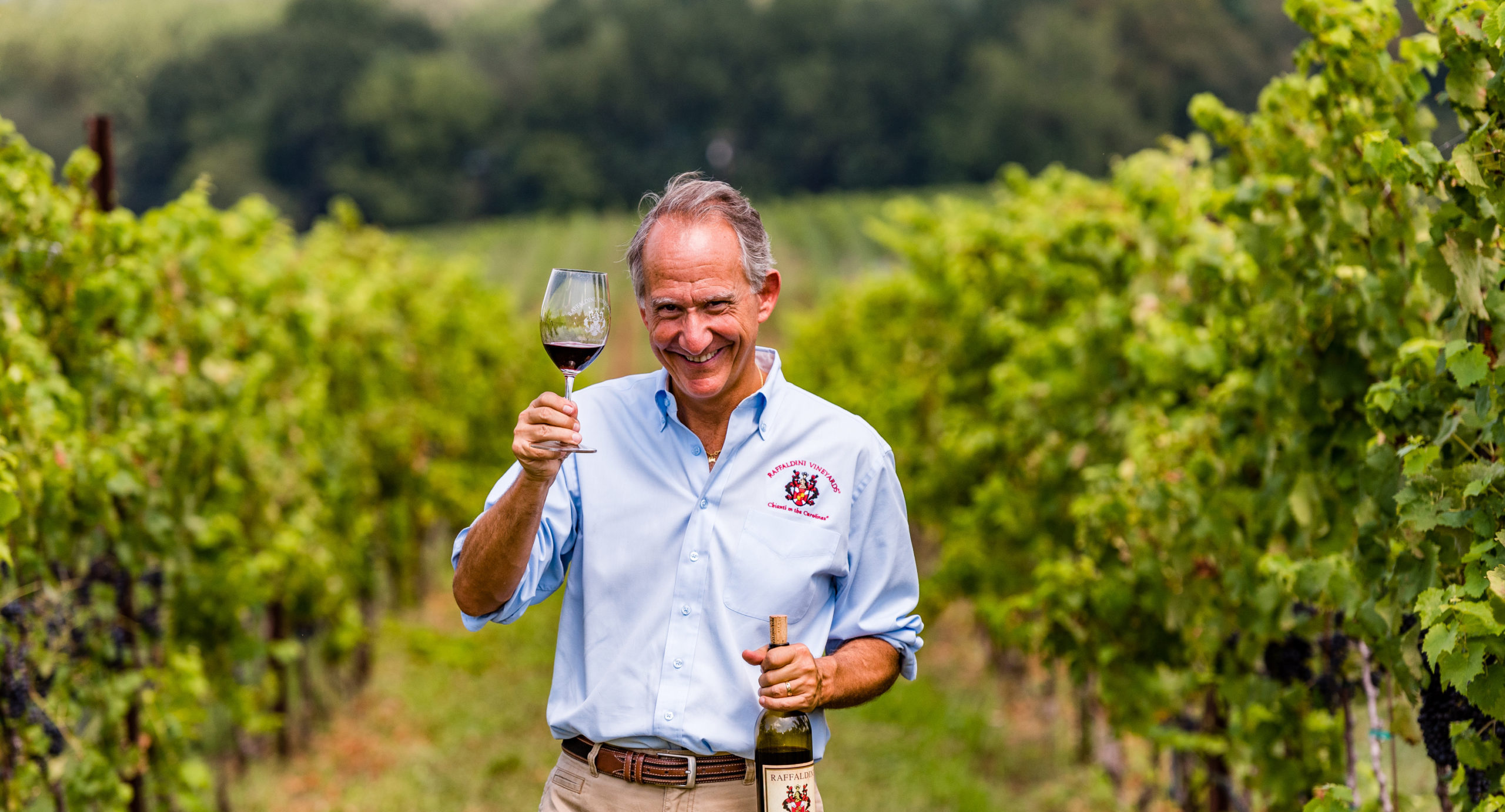 Jay Raffaldini in the Vines courtesy of Visit Winston Salem